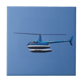R44 helicopter with floats ceramic tile