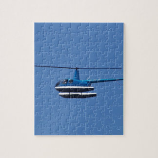 R44 helicopter with floats jigsaw puzzle