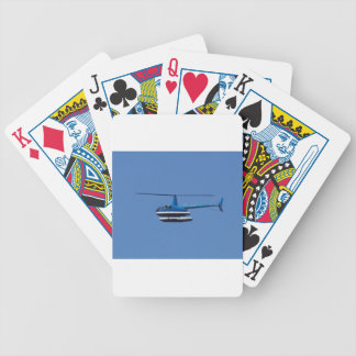 R44 helicopter with floats bicycle poker cards