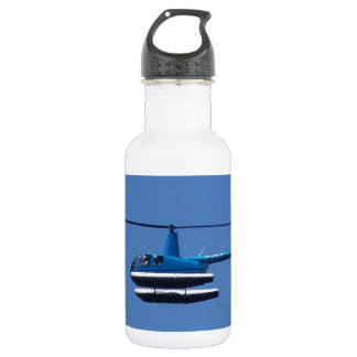 R44 helicopter with floats stainless steel water bottle
