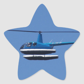 R44 helicopter with floats star sticker