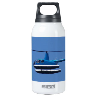 R44 helicopter with floats thermos water bottle