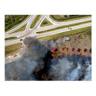 r4-southeast-aerial ignitions along highway post card