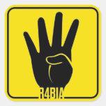 R4BIA, Egypt free, stop Killing Innocents Pegatina Cuadrada
