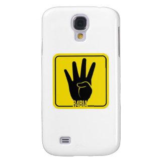 R4BIA, Egypt free, stop Killing Inocents Funda Para Galaxy S4
