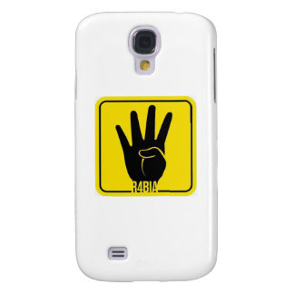R4BIA, free Egypt, stop Killing Inocents Samsung Galaxy S4 Cover