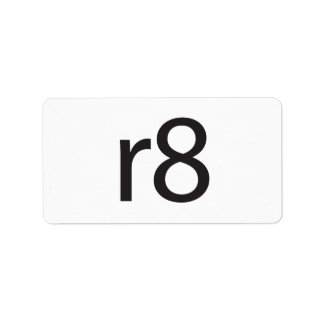 r8.ai personalized address labels