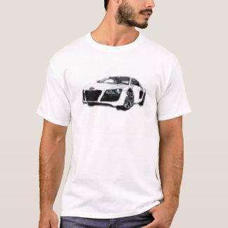 R8 Sports Car Hand Painted Art Brush Template T-Shirt