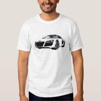 R8 Sports Car Hand Painted Art Brush Template Tee Shirt