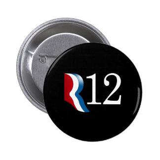 R 12 PINBACK BUTTON