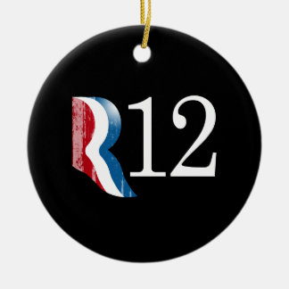 R 12.png Double-Sided ceramic round christmas ornament