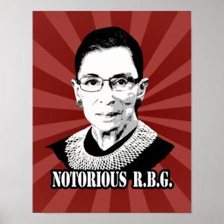 R.B.G. notorios - Ruth Bader Ginsburg Posters