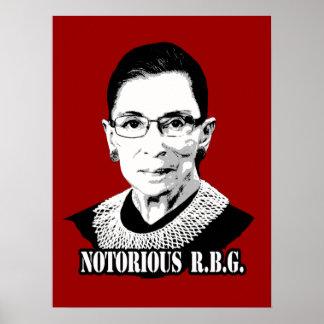 R.B.G. notorios - Ruth Bader Ginsburg Poster