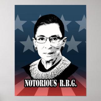 R.B.G. notorios - Ruth Bader Ginsburg Póster