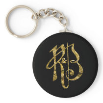 R&B Gold Keychain