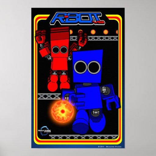 R-Bot VS. Retro Game Poster