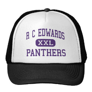 R C Edwards - panteras - joven - central Gorros Bordados