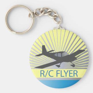 R/C Flyer Basic Round Button Keychain