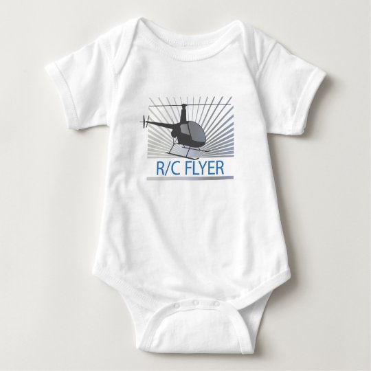 R-C Flyer Copter Baby Bodysuit
