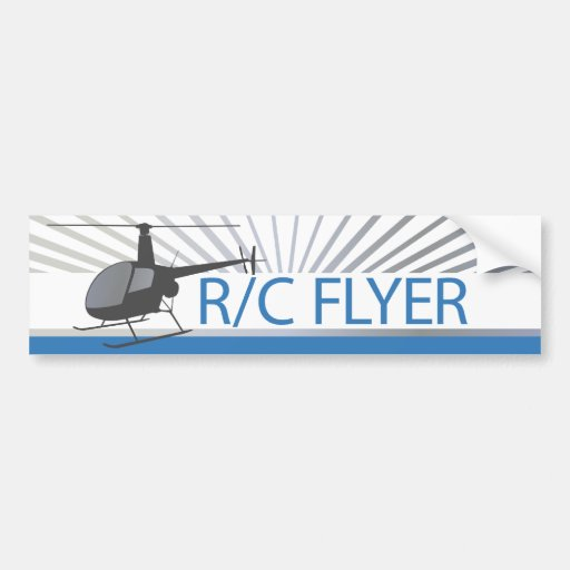 R-C Flyer Copter Car Bumper Sticker