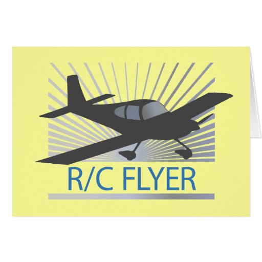 R/C Flyer Greeting Card