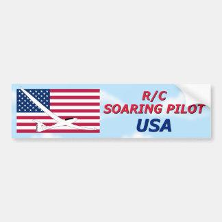 R/C SOARING PILOT - USA  AMERICA BUMPER STICKER