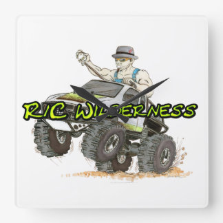 R/C Wilderness thing what tells time. Square Wall Clock