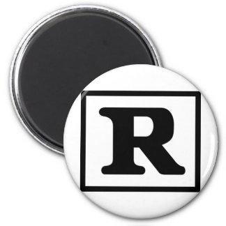 R clasificado imán redondo 5 cm