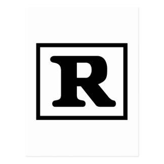 R clasificado postales