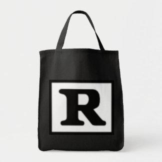 R clasificado, sistema de calificación bolsa lienzo