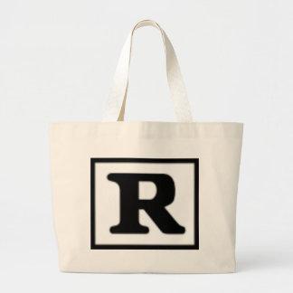 R clasificado, sistema de calificación bolsas lienzo