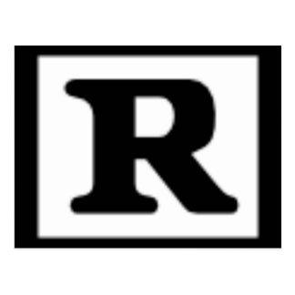 R clasificado, sistema de calificación postales