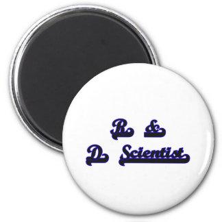 R & D Scientist Classic Job Design 2 Inch Round Magnet