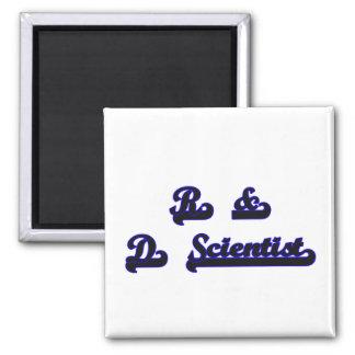 R & D Scientist Classic Job Design 2 Inch Square Magnet