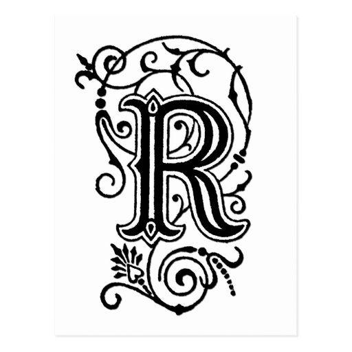 decorative letter b r decorative letter postcard zazzle 21329