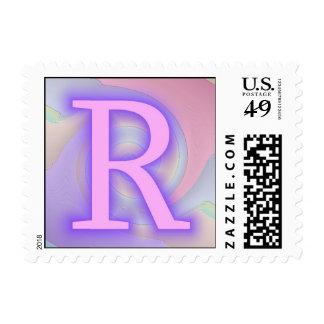 R del monograma de la pasión de la púrpura