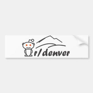r/denver Bumper Sticker Car Bumper Sticker