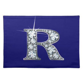 """R"" Diamond Bling American MoJo Placemat"