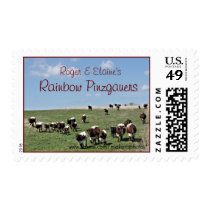 R&E's Pinzgauer Cattle Stamp- customize Postage