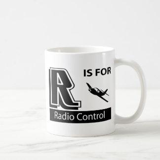 R está para el control de radio tazas de café
