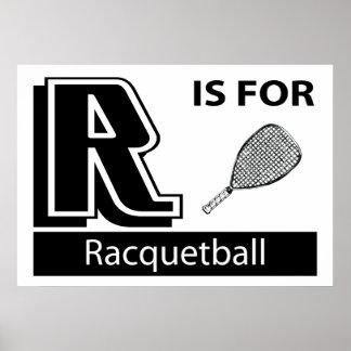 R está para el Racquetball Posters