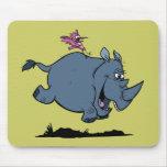 R está para el rinoceronte tapetes de ratón