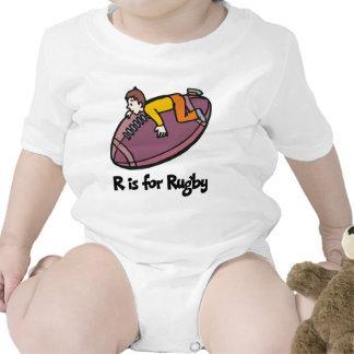 R está para el rugbi camisetas