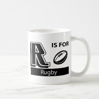 R está para el rugbi tazas de café