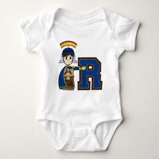 R está para el soldado romano body para bebé