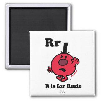 R está para grosero imán cuadrado