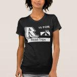 R está para los viajes por carretera camisetas
