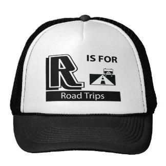 R está para los viajes por carretera gorros bordados