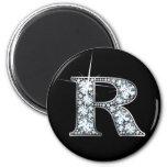 """""""R"""" Faux-""""Diamond Bling"""" Magnet Magnet"""
