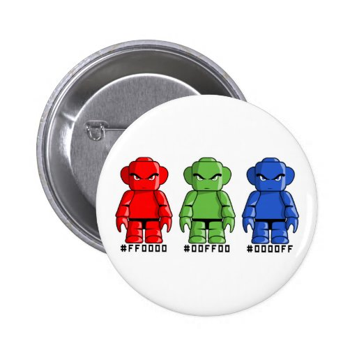 R, G and B Pinback Buttons